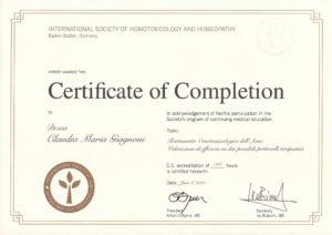 Certificato ISHoHo