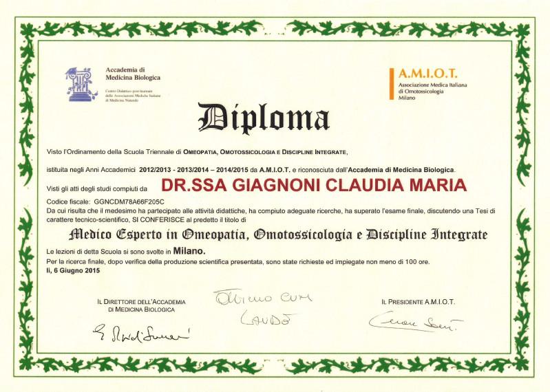 Diploma AMIOT